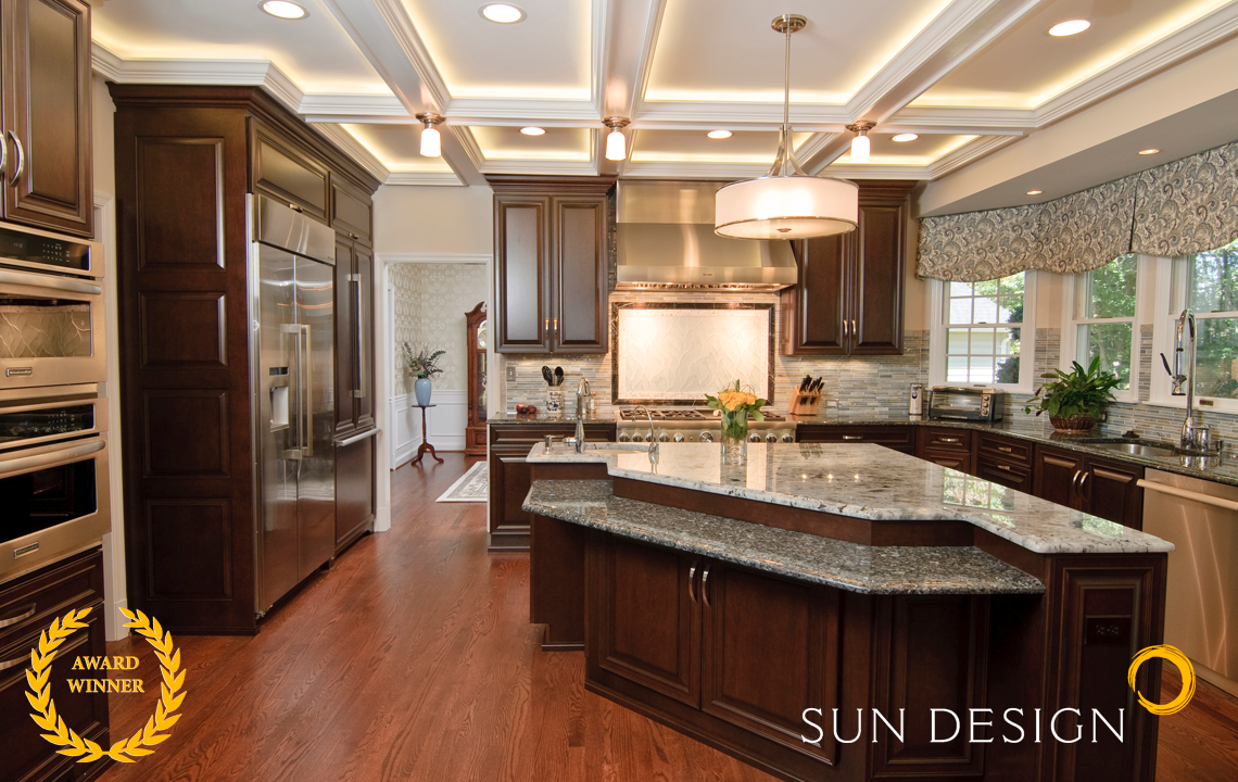 Kitchen Triangle With Island kitchen remodel portfolio | sun design remodeling specialists, inc.