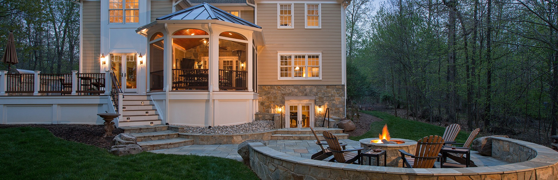 Outdoor living space contractors northern va sun design for House plans with outdoor living space